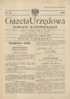 Gazeta Urzędowa Powiatu Katowickiego, 1937, nr31