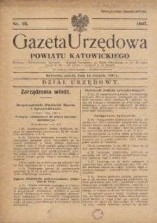 Gazeta Urzędowa Powiatu Katowickiego, 1937, nr32