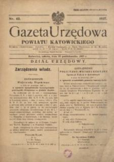 Gazeta Urzędowa Powiatu Katowickiego, 1937, nr42