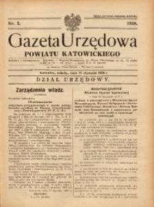 Gazeta Urzędowa Powiatu Katowickiego, 1938, nr2