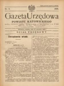 Gazeta Urzędowa Powiatu Katowickiego, 1938, nr3