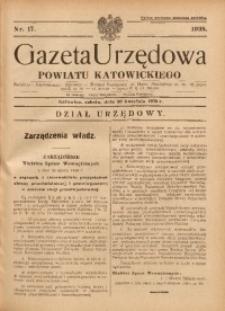 Gazeta Urzędowa Powiatu Katowickiego, 1938, nr17