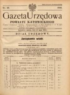 Gazeta Urzędowa Powiatu Katowickiego, 1938, nr20