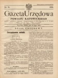 Gazeta Urzędowa Powiatu Katowickiego, 1938, nr21