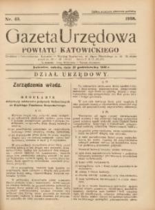 Gazeta Urzędowa Powiatu Katowickiego, 1938, nr43