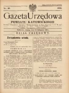 Gazeta Urzędowa Powiatu Katowickiego, 1938, nr45