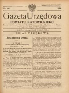 Gazeta Urzędowa Powiatu Katowickiego, 1938, nr46