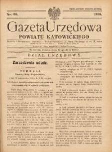 Gazeta Urzędowa Powiatu Katowickiego, 1938, nr50