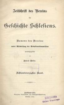 Zeitschrift des Vereins für Geschichte Schlesiens. Namens des Vereins unter Mitwirkung der Schriftleitung, 1914, Bd. 48