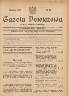 Gazeta Powiatowa Powiatu Świętochłowickiego, 1937, nr 13