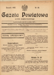 Gazeta Powiatowa Powiatu Świętochłowickiego, 1937, nr 40