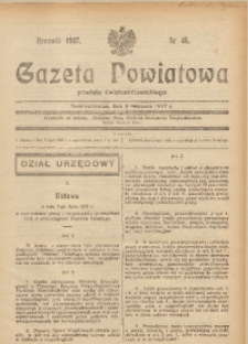 Gazeta Powiatowa Powiatu Świętochłowickiego, 1937, nr 46