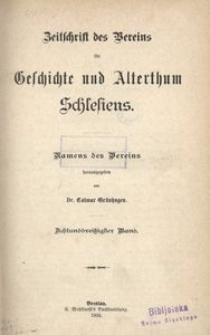 Zeitschrift des Vereins für Geschichte Schlesiens. Namens des Vereins, 1904, Bd. 38