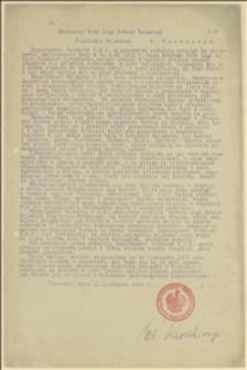Pismo okólne Departamentu Wojskowego NKN w sprawie udziału Rady Ligi Kobiet Polskich w zbiórce ciepłych rzeczy dla polskich żołnierzy - 11.11.1915