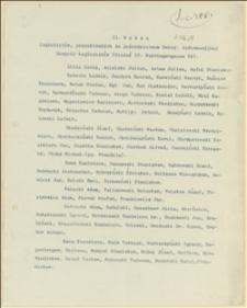 II [|Drugi] Wykaz legionistów poszukiwanych za pośrednictwem Sekcyii Informacyjnej Gospody Legionistów - Wiedeń, 07.1915