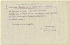 Porządek Dzienny obrad Sekcji Śląskiej na posiedzeniu dnia 26 marca 1916