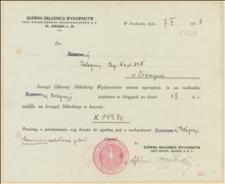 Dwa salda stanu Głównej Składnicy Wydawnictw przy Departamencie Organizacyjnym NKN w Krakowie z 1.04 i 1.10.1916