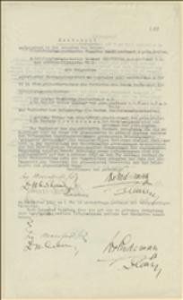 Protokół Sądu Polubownego między posłem Tadeuszem Regerem a posłem Rajmundem Mannteufflem o obrazę czci, przeprowadzonego 05.10.1917 w Wiedniu