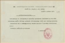 Zawiadomienie o wydaniu kalendarzyka kieszonkowego na rok 1918 - 12.1917