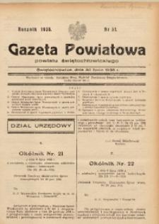Gazeta Powiatowa Powiatu Świętochłowickiego, 1938, nr 31