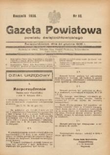 Gazeta Powiatowa Powiatu Świętochłowickiego, 1938, nr 52