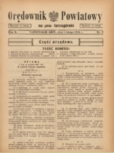 Orędownik Powiatowy na Powiat Tarnogórski, 1936, R. 10, nr5
