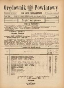Orędownik Powiatowy na Powiat Tarnogórski, 1937, R. 12, nr7