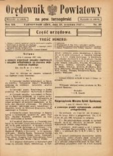 Orędownik Powiatowy na Powiat Tarnogórski, 1937, R. 12, nr39