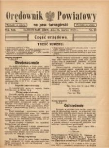 Orędownik Powiatowy na Powiat Tarnogórski, 1938, R. 13, nr12