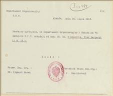Zawiadomienie o nowym adresie Departamentu Organizacyjnego NKN w Krakowie - 25.07.1915