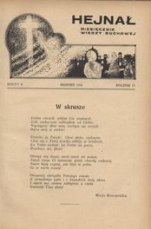 Hejnał, 1934, R. 6, z. 8