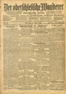 Der Oberschlesische Wanderer, 1920, Jg. 93, Nr. 85