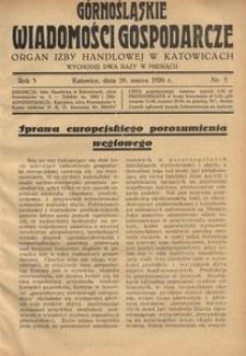 Górnośląskie Wiadomości Gospodarcze, 1926, R. 3, nr 5