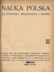Nauka Polska, 1920, R. 3
