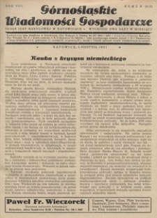 Górnośląskie Wiadomości Gospodarcze, 1931, R. 8, nr 14/15