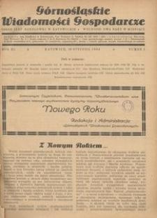 Górnośląskie Wiadomości Gospodarcze, 1934, R. 11, nr 1