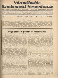 Górnośląskie Wiadomości Gospodarcze, 1934, R. 11, nr 2