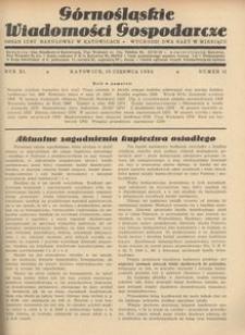 Górnośląskie Wiadomości Gospodarcze, 1934, R. 11, nr 11
