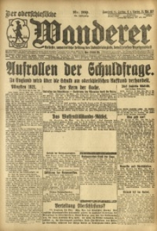 Der Oberschlesische Wanderer, 1921, Jg. 94, Nr. 109