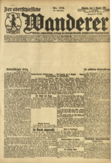 Der Oberschesische Wanderer, 1921, Jg. 94, Nr. 173