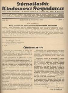 Górnośląskie Wiadomości Gospodarcze, 1934, R. 11, nr 18