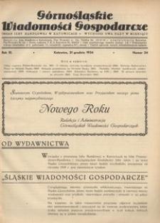 Górnośląskie Wiadomości Gospodarcze, 1934, R. 11, nr 24