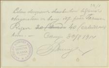 Rozliczenia za sprzedane bony i wykazy osób, które wpłaciły - 26.08.-30.11.1914