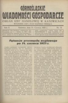 Górnośląskie Wiadomości Gospodarcze, 1925, R. 2, nr 12