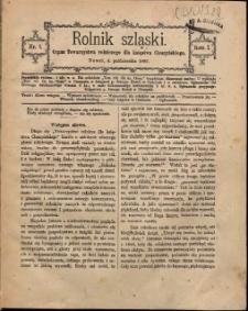 Rolnik Szląski, 1885, Nry 1-6