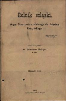 Rolnik Szląski, 1892, Nry 1-24