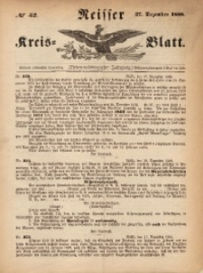 Neisser Kreis-Blatt, 1888, Jg. 47, nr52