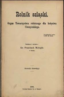 Rolnik Szląski, 1893, Nry 1-24