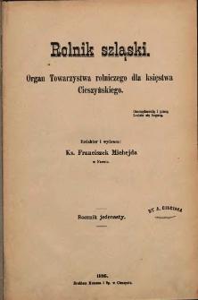 Rolnik Szląski, 1895, Nry 1-24