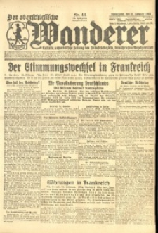 Der Oberschlesische Wanderer, 1924, Jg. 96, Nr. 44